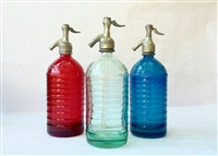Lourdes collection  S/3   Red,Clear, Blue