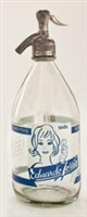 Vintage Graphic Eduardo Torrin Seltzer Bottle