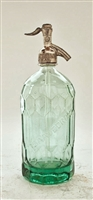 Saavedra Textured Vintage Seltzer Bottle | The Seltzer Shop | Colored Argentine seltzer bottle - vintage seltzer pendant light - wine chiller interior design elements