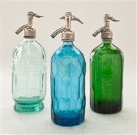 Collection III Vintage Seltzer Bottles