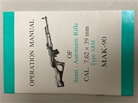 AK47 OPERATION MANUAL 7.62X39