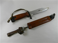 RUSSIAN AK-47 RED BAKEILITE BAYONET MATCHING SERIAL  NUMBERS