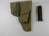 "EAST GERMAN ""RAIN DROP "" CAMO HOLSTER FOR MAKAROV PISTOL WITH SPARE 8 ROUND MAGAZINE"