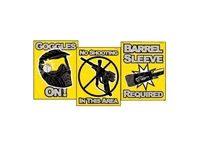 Paintball Safety Warning Sign