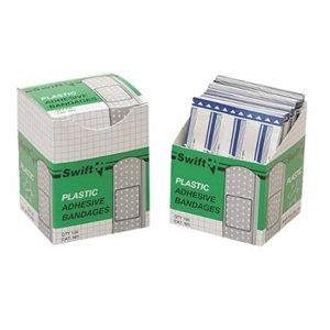 Plastic Adhesive Bandages - 1 in. x 3 in.