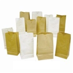 White 12 lb. Grocery Bag - 7.06 in. x 4.5 in.
