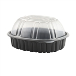 Natures Best Roaster Large Black Base And Clear Lid - 9.38 in.x 7.44 in.x 4.5 in.