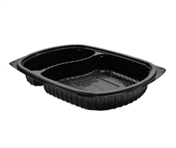 Microraves 2 Compartment Platter Microwavable - 21 oz. and 10 oz.
