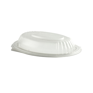 Clear polypropylene Vented Dome Lid Fits 12 and 16-Oz Container