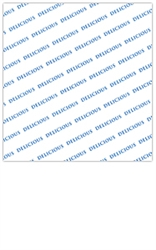 PolyWax Paper Wrap with Blue Ink Delicious - 15 in. x 16 in.