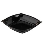 CaterLine Contours Square Pet Bowl Black - 28 Oz.