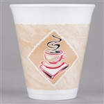 Cafe Foam Red Accents Gourmet Cup - 12 oz.