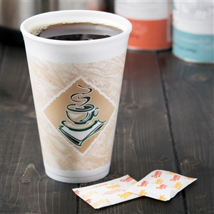 Cafe Gourmet Green Accents Foam Cup - 16 oz.