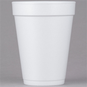 White Medium Foam Cup - 14 oz.