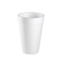 Tall Foam Cup White - 16 Oz.