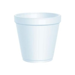 White Squat Foam Medium Food Container - 16 oz.