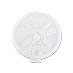 Lift N Lock Translucent Straw Slot Plastic Lid for 16 oz. Cup