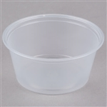 Portion Souffle Plastic Clear Cup - 3.25 oz.