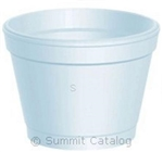 Squat White Foam Container - 4 oz.