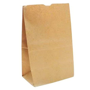 57 Lb.Shorty Grocery Bags Kraft Paper - 10.13 in. x 6.75 in. x 14.38 in.