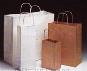 100 Percent Recycled Grocery Bag Kraft - 3 in. x 1.88 in. x 5.88 in.