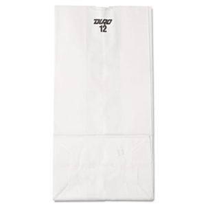 White Grocery Bags 100 Percent Recycled - 12 Lb.