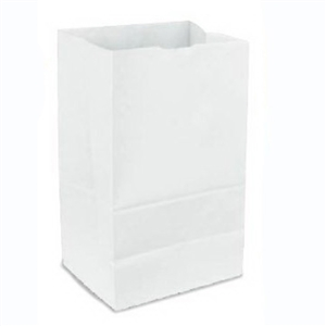 White Grocery Bags 100 Percent Recycled - 6 Lb.