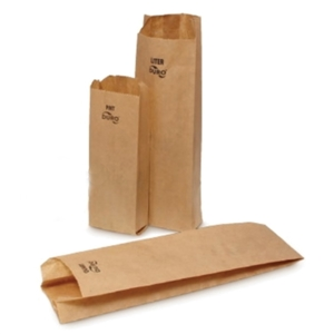 Kraft Quart Liquor Bag - 4.25 in. x 2.5 in. x 16 in.