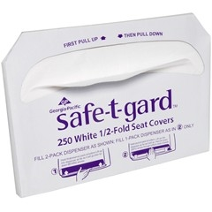Safe-T-Gard Seatcovers Fold Paper White - 14.5 in. x 17 in.