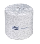 Tork Advanced 2 Ply White Bath Tissue - 4 in. x 156.25 ft.
