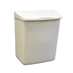 Sanitary Nap Receptacle White Disposal Unit Plastic - 9 in. x 11 in. x 4 in.