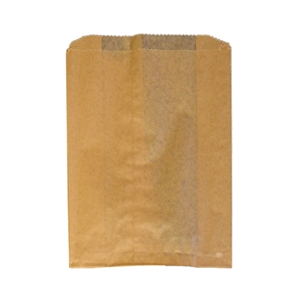 Waxed Paper Hygiene Liner Brown - 9 in. X 10 in. X 3.25 in.