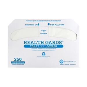 Health Gards Half-Fold Toilet Seat Covers White