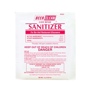 Beer Clean Last Rinse Sanitizer - 0.25 oz.