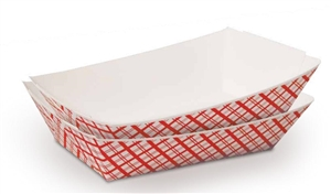 Red Weave Paper Food Tray - 2 Lb.