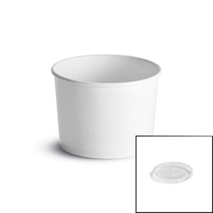 Paper White Food Container Combo Pack - 12 Oz.