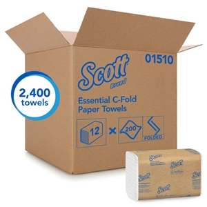 Scott C-Fold Towel 1-Ply White Paper - 10.13 in. x 13.17 in.