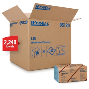 Wypall 2-Ply Towel Windshield - 9.1 in. x 10.25 in.