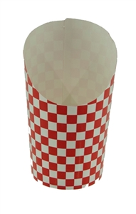 Checkerboard Design Paper Fry Scoop Red and White - 5 Oz.