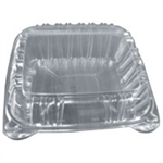 Square Clear 1 Compartment Hinged Container - 8 in.
