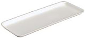 Foam Tray White - 14.70 in. x 5.70 in. x 0.66 in.