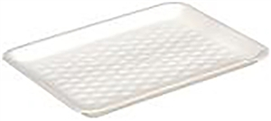 White 4S Foam Tray - 9.13 in. x 7.13 in. x 0.61 in.