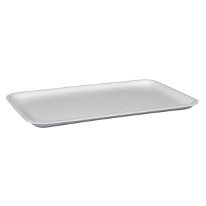 White 16S Foam Tray -  11.7 in x 7.31 in. x 0.61 in.