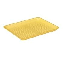 Yellow 9H Foam Tray - 11.91 in. x 9.91 in. x 1.20 in.