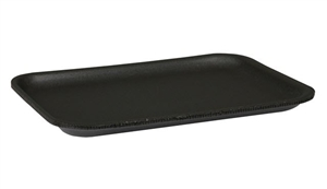 Heavy Foam Black Tray - 10.88 in. x 5.88 in. x 1.03 in.