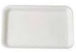 White 20S Foam Tray - 8.70 in. x 6.20 in. x 0.61 in.