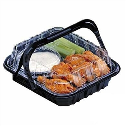 Mealmaster Barn Box Chicken Small Black and Clear - 9.5 in. x 8 in. x 3 in.