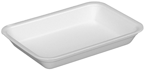 White 25SH Foam Tray - 14.9 in x 8 in. x 1 in.