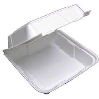 White 1 Compartment Foam Lock Container - 8 in.