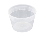 Squat Plastic Clear Deli Combo - 16 oz.